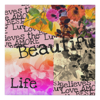 Beautiful Life Abstract Faux Canvas Print