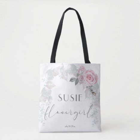 Beautiful Light Pink Roses  BarefootBride™ Tote Bag