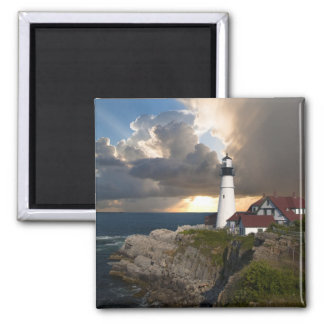 Beautiful Lighthouse Over the Ocean Magnet