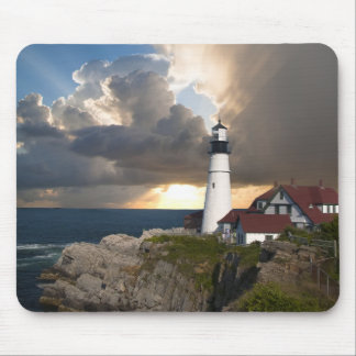Beautiful Lighthouse Over the Ocean Mousepad