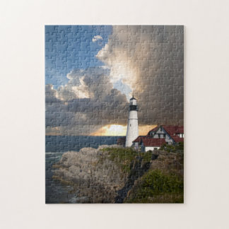 Beautiful Lighthouse Over the Ocean Puzzle