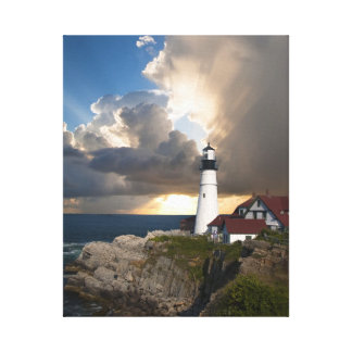 Beautiful Lighthouse Overlooking the Ocean Canvas