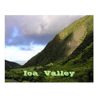 Beautiful Lighting Over IOA VALLEY MAUI Postcard