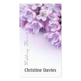 Beautiful lilac photograhy, weddin florist business cards