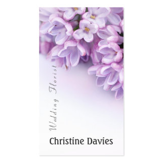 Beautiful lilac photograhy, weddin florist business card template