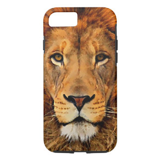 Beautiful Lion Head Oil Painting Art iPhone 7 Case