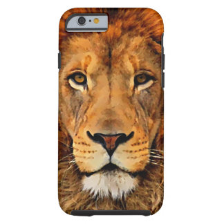 Beautiful Lion Head Oil Painting Art Tough iPhone 6 Case