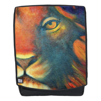 Beautiful Lion Head Portrait Regal and Proud Backpack