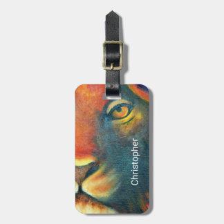 Beautiful Lion Head Portrait Regal and Proud Bag Tag