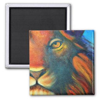 Beautiful Lion Head Portrait Regal and Proud Magnet