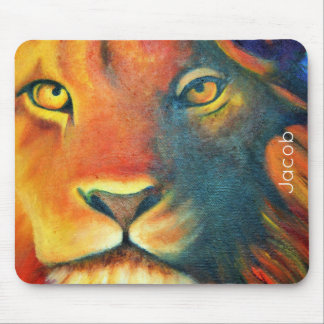 Beautiful Lion Head Portrait Regal and Proud Mouse Pad