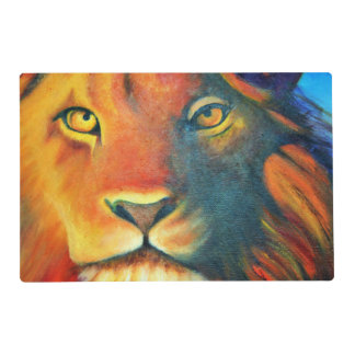 Beautiful Lion Head Portrait Regal and Proud Placemat