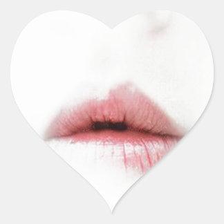 beautiful lips heart sticker