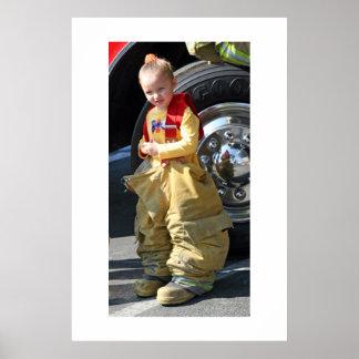 Beautiful Little Firefighter Poster