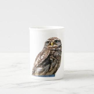 Beautiful little owl bird photo bone china mug