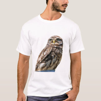 Beautiful little owl bird photo womens t-shirt