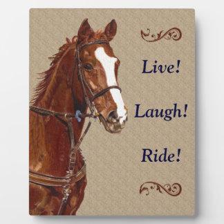 Beautiful Live! Laugh! Ride! Horse Plaque