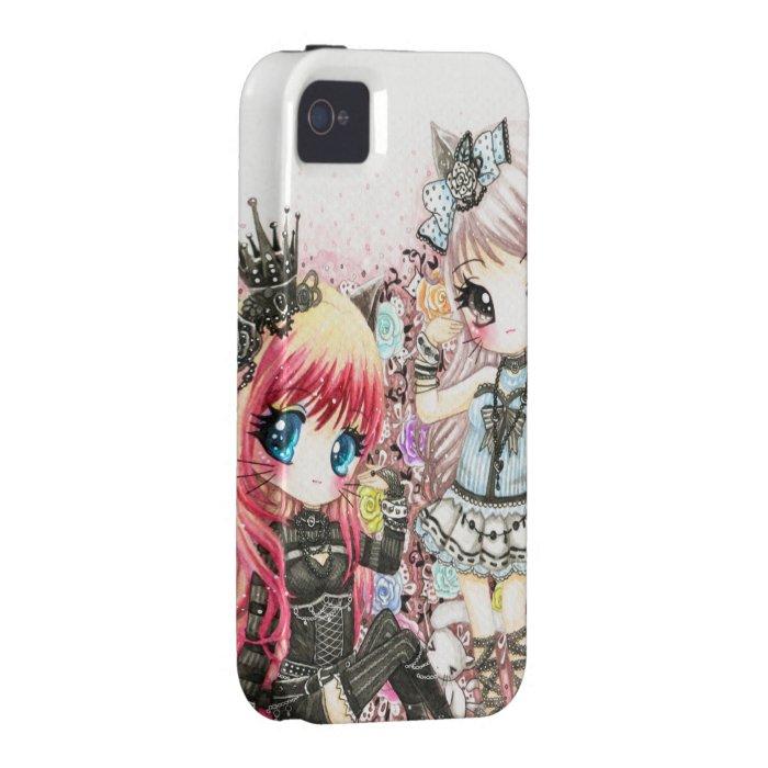 Beautiful lolita cat girls iPhone 4/4S case