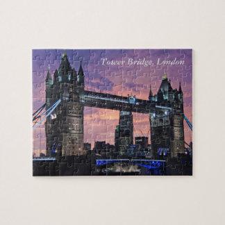 Beautiful London England Tower Bridge at Night Jigsaw Puzzle
