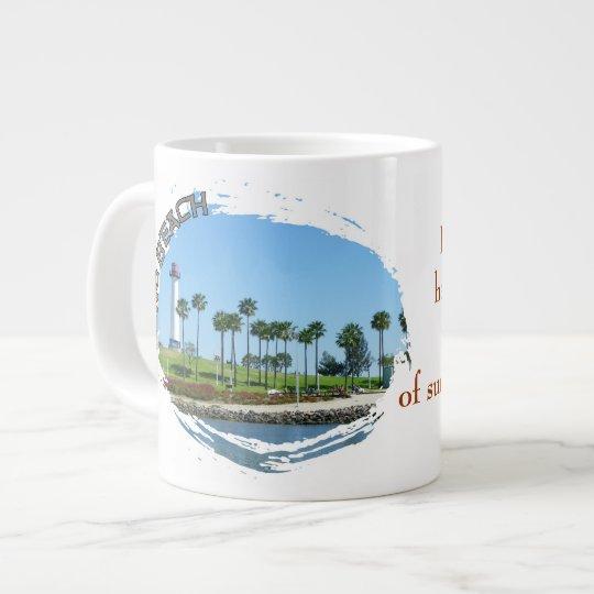 Beautiful Long Beach Jumbo Mug! Large Coffee Mug
