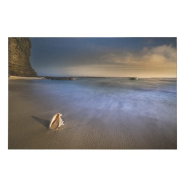 Beach Themed Beautiful Long Exposure Ocean Landscape Canvas
