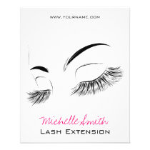 Beautiful long eyelashes Lash Extension Flyer