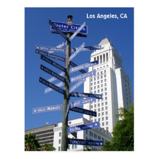 Beautiful Los Angeles Downtown Postcard! Postcard