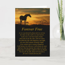 Beautiful Loss of Horse Sympathy Card