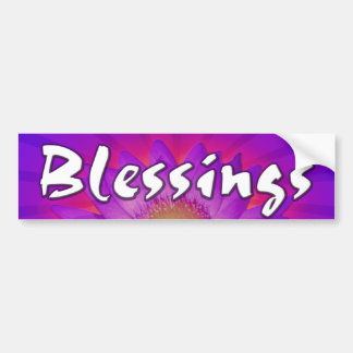 Beautiful Lotus Blessings Bumper Sticker