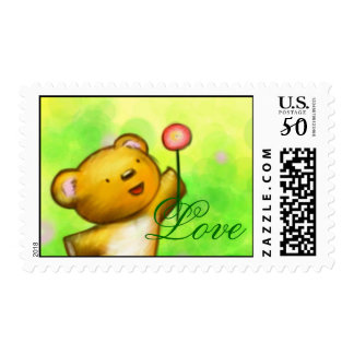 Beautiful Love Baby Bear 1med Postage