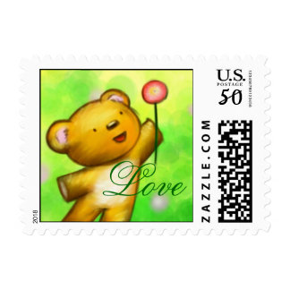 Beautiful Love Baby Bear Postage