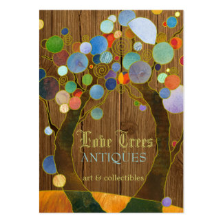 Beautiful Love Trees Antique Shop Business Cards