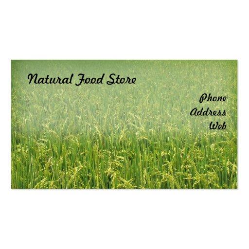 Beautiful Lush Green Rice Field Business Card Templates
