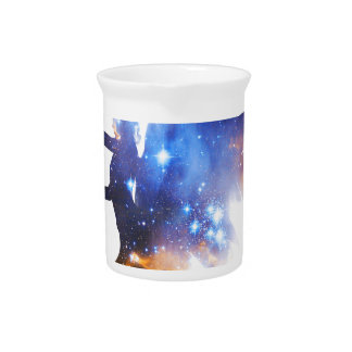 Beautiful Magical Space Fairy Drink Pitcher