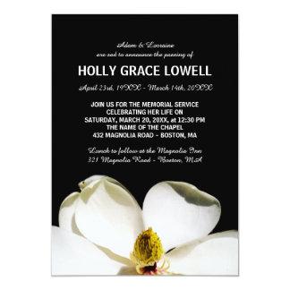 Beautiful Magnolia Memorial Service Card