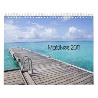 Beautiful Maldives Beach Calendar 2012