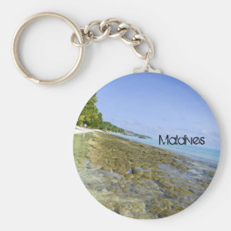 Beautiful Maldives Beach Keychain