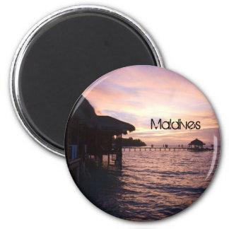 Beautiful Maldives Beach Magnet