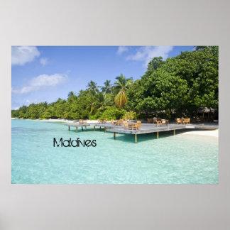 Beautiful Maldives Beach Poster Print