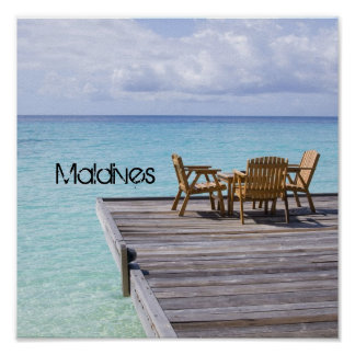 Beautiful Maldives Beach Poster Print