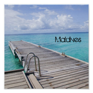 Beautiful Maldives Beach Print