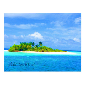 Beautiful Maldives Islands Postcard