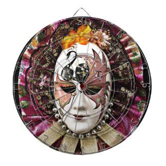 Beautiful Male Carnival Mask Dartboard With Darts
