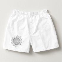 Beautiful mandala black and white desing flower boxers