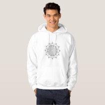 Beautiful mandala black and white desing flower de hoodie