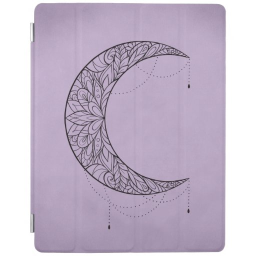 Beautiful Mandala Crescent Moon Design iPad Smart Cover