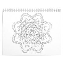 Beautiful mandala desing flower design indian vect calendar