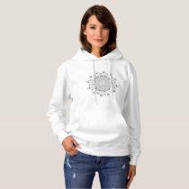 Beautiful mandala desing flower hoodie