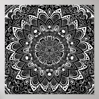 Beautiful Mandala Pattern Poster