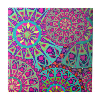 Beautiful mandala print tile